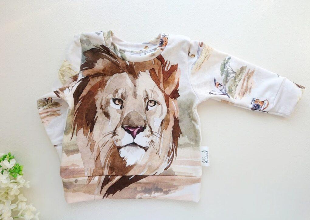 Beebi dressipluus beebipusa lõvi pildiga beebidressid