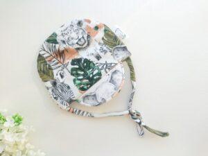 Poiste nokaga suvemüts, roheline, valge, puuvillane