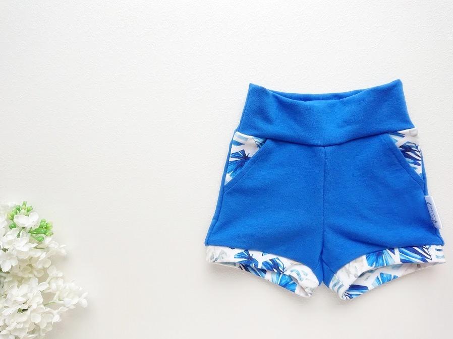 Beebipoiste lühikesed püksid, beebidele sinised ja valged suveks