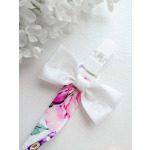 Tüdrukute roosa ja lilla lilleline lutikett lutihoidja närimisleluga närimisloomaga roosa rebane
