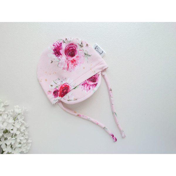 Tüdrukute npkaga suvemüts nokamüts tüdrukutele heleroosa ha tumepunased veinpunased lilled