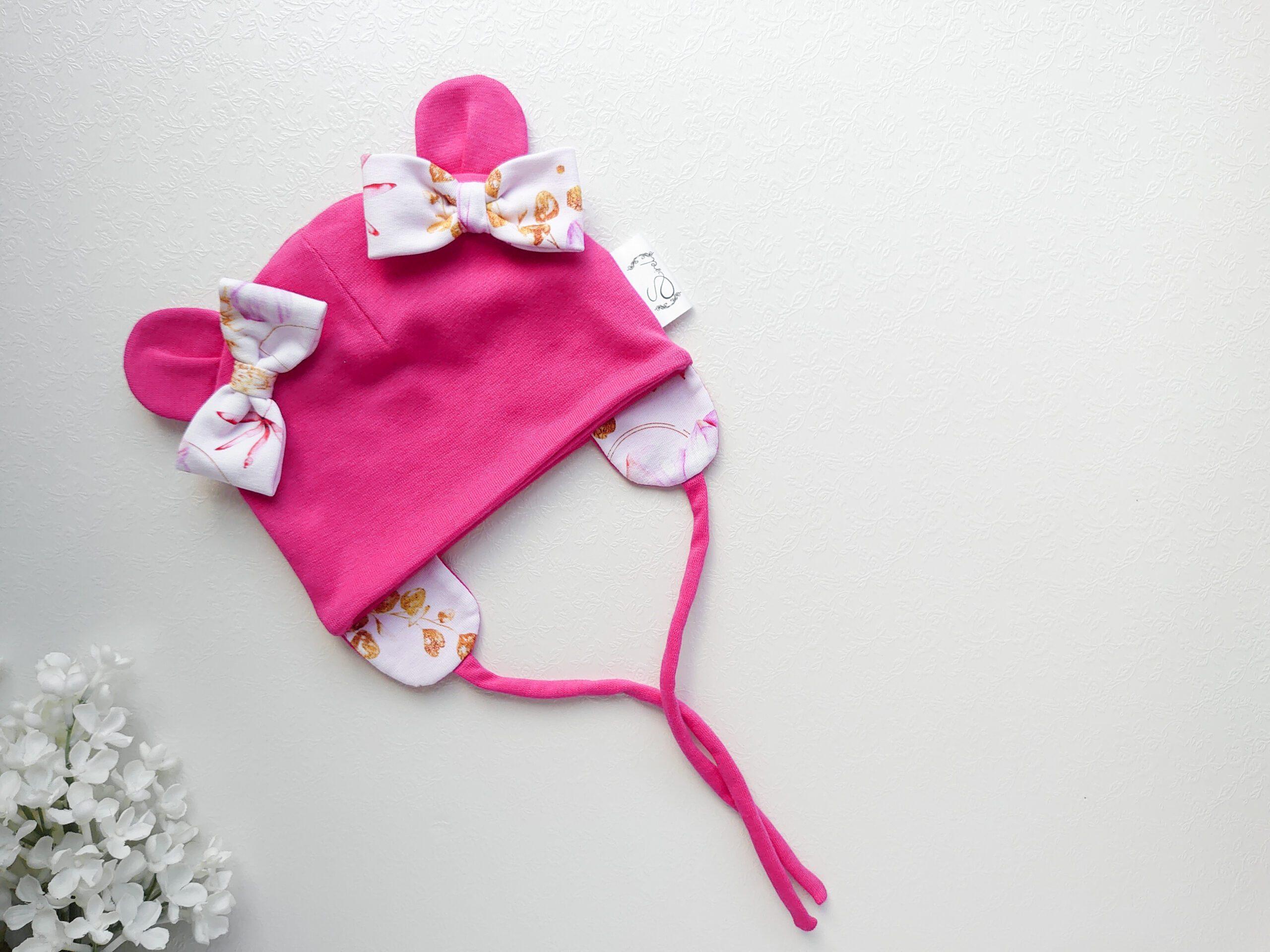 Fuksiaroosa-kõrvadega-ja-lipsudega-beebimüts-kevadeks-ja-sügiseks-kevadmüts-sügismüts-tüdrukutele-beebile31