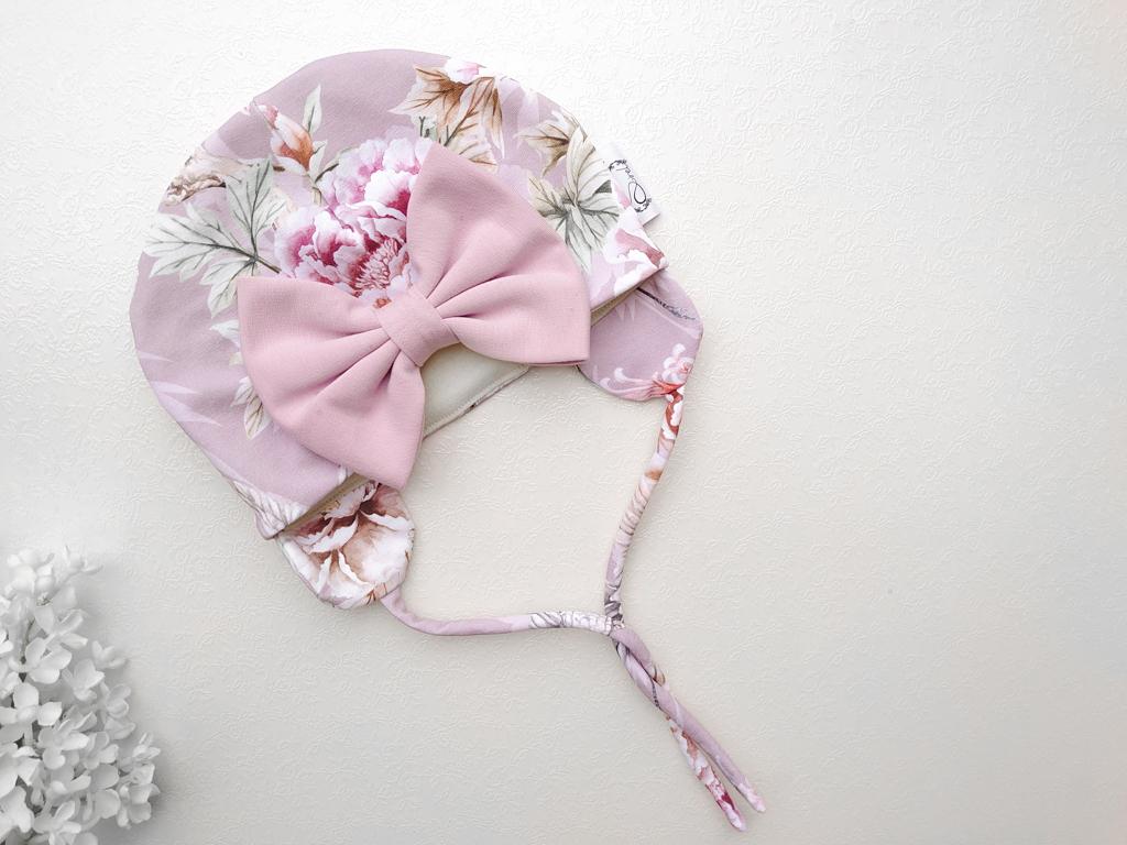 Vanalilla tütdrukute meriinovillane beebimüts talvemüts suure lipsuga